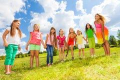 Beaucoup de petites filles mignonnes Photos stock