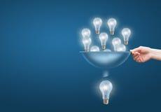 Beaucoup de petites idées ajoutent à grandes image stock