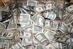 Beaucoup de petits billets d'un dollar image stock