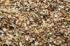 Beaucoup de petits déchets de bois Photo stock