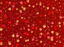 Beaucoup de petits milieux multicolores de coeurs Images libres de droits