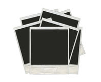 Beaucoup de photos polaroïd d'isolement sur un fond blanc Photos stock