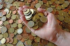Beaucoup de pièces de monnaie Images libres de droits