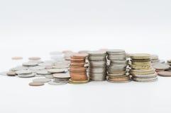 Beaucoup de pièces de monnaie Photos stock