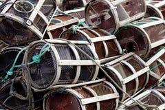 Beaucoup de pièges de poulpe Photo libre de droits