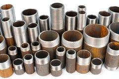 Beaucoup de pipes filetées Images libres de droits