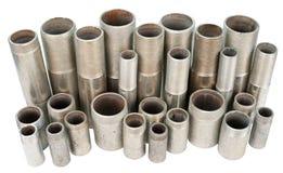 Beaucoup de pipes filetées, d'isolement Photos libres de droits