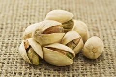Beaucoup de pistaches Images libres de droits