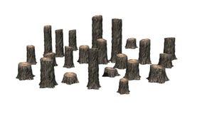 Beaucoup de plusieurs tronçons d'arbre illustration de vecteur