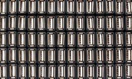 Beaucoup de ports USB et de connecteurs images libres de droits