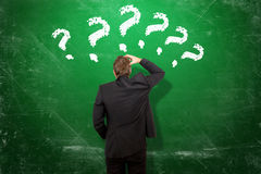 Beaucoup de questions Photo stock