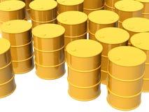 Beaucoup de réservoirs de couleur jaune Photographie stock libre de droits