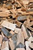 Beaucoup de rangées de bois de construction Photographie stock