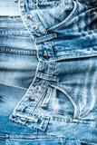 Beaucoup de restes des vieux jeans trousers_3 Photos libres de droits
