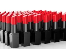 Beaucoup de rouges à lèvres rouges Photographie stock