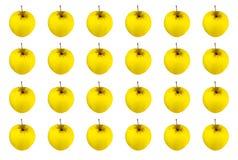 Beaucoup de séries sans fin de modèle d'or juteux jaune de pomme de fruit, automne saisonnier Photographie stock