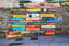Beaucoup de signes colorés Image stock