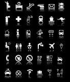 Beaucoup de signes/symboles avec des ombres Images libres de droits