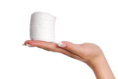 Beaucoup de tampons de coton. Photo libre de droits