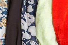 Beaucoup de textures colorées de tissu de tissu avec des modèles Photos libres de droits