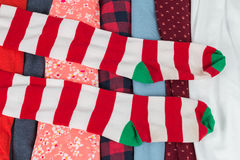 Beaucoup de textures colorées de tissu de tissu avec des modèles Image libre de droits