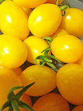 Beaucoup de tomates jaunes images stock