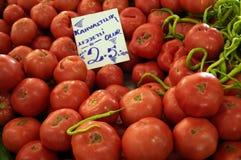 Beaucoup de tomates mûres rouges Photographie stock libre de droits