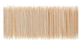 Beaucoup de toothpicks dispersés en pâlissant la forme photo libre de droits