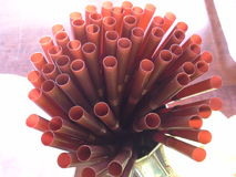 Beaucoup de tubes dans le café thaïlandais de traditonal, Hadyai, Thaïlande Images stock