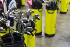 Beaucoup de types de club de golf photographie stock