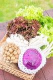 Beaucoup de types de légumes dans un panier Image stock