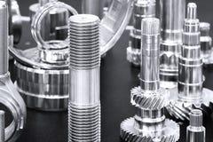 Beaucoup de types de métal détaille le fond de design industriel Images libres de droits