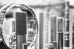 Beaucoup de types de métal détaille le fond de design industriel, concept de génie industriel Photographie stock libre de droits