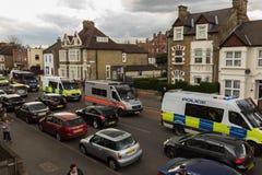 Beaucoup de véhicules de police photographie stock libre de droits