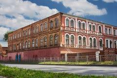 Beaucoup de vieux bâtiments dans Nijni-Novgorod ont soumis au reconstructi Image stock