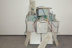 Beaucoup de vieux ordinateurs Photos libres de droits