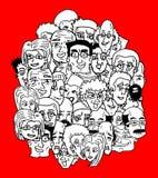 Beaucoup de visages Photographie stock