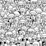Beaucoup de visages comiques Images libres de droits