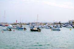 Beaucoup de yachts Images libres de droits