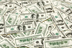 Beaucoup des USA 100 dollars Photographie stock