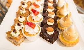 Beaucoup dessert pour la partie Images stock