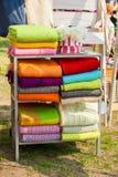 Beaucoup différents tissus de couleur et de texture Photographie stock libre de droits