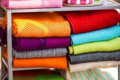 Beaucoup différents tissus de couleur et de texture Photo libre de droits