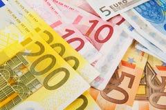 Beaucoup euro argent Image libre de droits