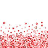 Beaucoup fleur rouge Image stock