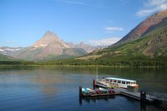Beaucoup glacier - stationnement national de glacier Photographie stock libre de droits