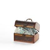 Beaucoup l'argent russe a maintenu dans le tronc fermé roubles Image libre de droits