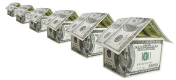 Beaucoup maison du dollar Photographie stock