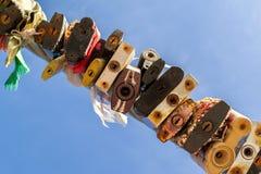 Beaucoup ont coloré l'abrégé sur cadenas en métal scellé Image libre de droits