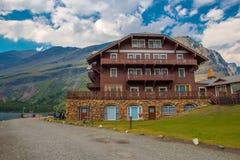 Beaucoup parc national de glacier d'hôtel de glacier Photos libres de droits